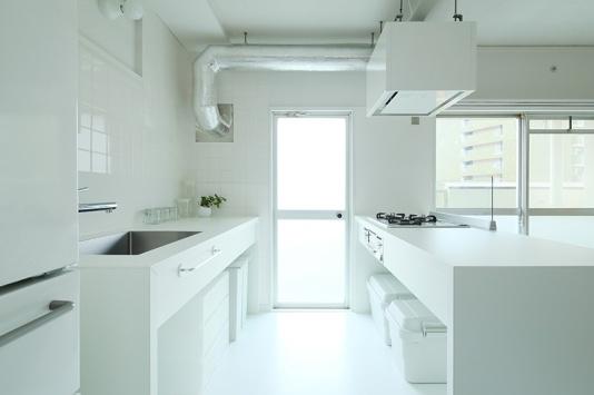 两列厨房大空间