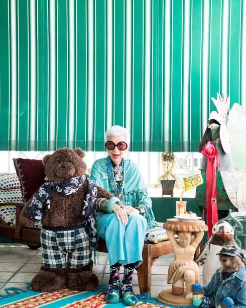 95岁时尚网红Iris Apfel